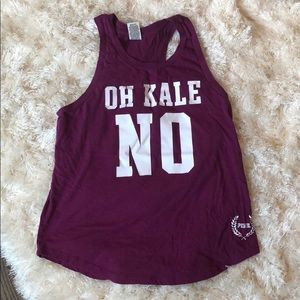"Victoria's Secret PINK ""Oh Kale No"" Tank"